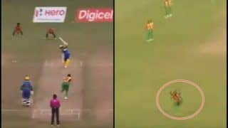 CPL 2018 Barbados Tridents vs Guyana Amazon Warriors: Rayad Emrit Takes A One-Handed Blinder To Dismiss Martin Guptill---Watch Video