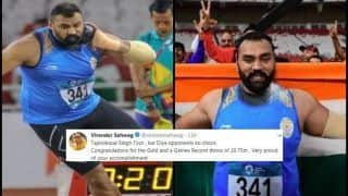 Asian Games 2018: Virender Sehwag to Sachin Tendulkar, How Cricket Fraternity Lauded Tajinderpal Singh's Historic Gold in Shot Put