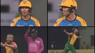 CPL 2018: St Lucia Stars David Warner Fumes at Umpire For Blunder, Imran Tahir Goes For a Sprint -- WATCH