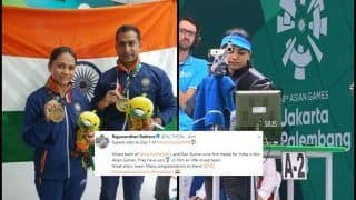 Asian Games 2018, Day 1: Apurvi Chandela & Ravi Kumar Bag Bronze in 10m Air Pistol Shooting, Rajyavardhan Singh Rathore, Congress And How Twitter Reacted
