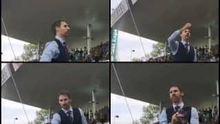 India vs England 1st Test Edgbaston: Move Over Donald Trump, Kim Jong-un Masks, Did You Spot a Fan Dressed as English Football Manager Gareth Southgate Root For Joe Root And Co.? -- WATCH