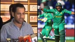 Pakistan Captain Sarfaraz Ahmed Says Want to Celebrate Independence Day With ICC Cricket World Cup 2019 -- WATCH