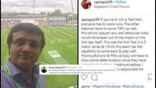 India vs England Test: Sourav Ganguly Says His Instagram account is Fake, Asks Not to Take Quotes on India Captain And ICC No 1 Test Batsman Virat Kohli or Team India