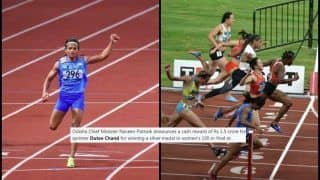 Asian Games 2018 in Jakarta and Palembang: Sprinter Dutee Chand Wins 100 Mts Silver; CM Naveen Patnaik Announces Rs 1.5 Cr Cash Reward