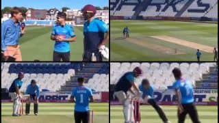 Afghanistan's ICC T20I No 1 Bowler Rashid Khan Takes on Former English Cricketer Marcus Trescothick in a One-Over Face-Off -- WATCH