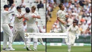 India vs England 1st Test Day 2: Hardik Pandya Gets a Toe-Crusher From Sam Curran, Twitter TROLLS Him For Wasting Review, Virat Kohli Fighting Lone Battle