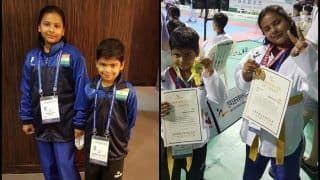Brother-Sister Duo From Trio World Academy Bags Gold Medals at International Taekwondo Championship Held at South Korea