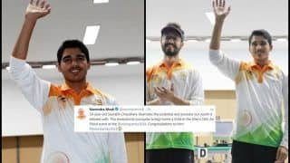 Asian Games 2018: PM Narendra Modi Congratulates Shooters Saurabh Chaudhary, Abhishek Verma, Sanjeev Rajput For Winning Respective Medals