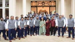 India vs England 2nd Test Lord's: BCCI Reveals Reason Behind Anushka Sharma's Presence Alongside Virat Kohli in Team India Photo at Indian High Commission in London