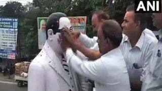 Meerut: Dalit Lawyers 'Purify' Ambedkar Statue With Milk And Gangajal After BJP Leader Garlands it