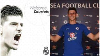 Goalkeeper Thibaut Courtois Joins Real Madrid for 35 Million Euros, Chelsea Signs His Replacement on World Record Fee