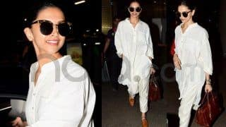 Deepika Padukone's Latest Airport Pics Will Make You Fill Your Wardrobe With All Things White Right Away