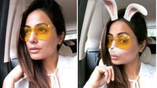 Bigg Boss 11 Finalist Hina Khan Looks Sexy in White Top And Denim Hot Pants During Her Movie Date With Beau Rocky Jaiswal- View Pictures