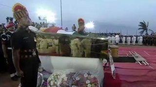 Karunanidhi's Burial News Updates: DMK Chief Laid to Rest Near Anna Memorial at Marina
