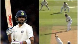 India vs England 2nd Test Day 2 Lord's: Chris Woakes Gets India Captain Virat Kohli With a Ball That Swung Late, Jos Buttler Takes Catch -- WATCH