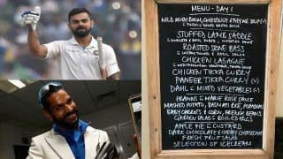 India vs England 2018, 2nd Test: Virat Kohli, Shikhar Dhawan and Ravichandran Ashwin Feast on Chicken Tikka Curry, Lasagne and Apple Pie Custard During Lunch on Day 1 at Lord's