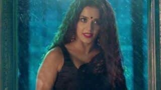 Bhojpuri Hot Bomb Monalisa Looks Her Boldest Best in Sexy Black Netted Saree- View Hot Pics