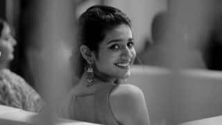 Internet Wink Queen Priya Prakash Varrier's Monochrome Picture And Beautiful Smile Will Make Your Heart Beat Faster - View Picture