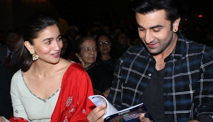 Image result for images of Ranbir Kapoor talks about his relationship with Alia Bhatt: I am in a happy, positive and beautiful phase of my life