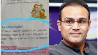 Virender Sehwag Blasts Primary School Books Publishing Authorities Over Content
