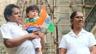 Taimur Ali Khan Celebrates Independence Day by Waving The National Flag And it is The Cutest Thing on The Internet Today- View Pictures