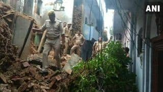 Uttar Pradesh: Heavy Rains Lead to House Collapse in Lucknow's Ganeshganj; Two Injured, Rescue Operations Underway