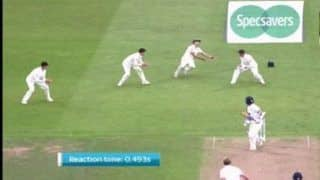 India vs England 3rd Test Trent Bridge: Alastair Cook Takes a One-Handed Blinder at First Slip to Dismiss Ajinkya Rahane---Watch
