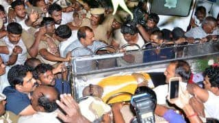 Karunanidhi Laid to Rest at Marina Near Anna Memorial With Full State Honours