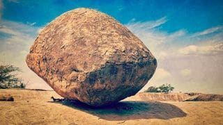 Have you heard of this immovable rock placed by Aliens in Mahabalipuram?