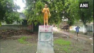 Uttar Pradesh: Mahatma Gandhi's Statue Painted Saffron in Shahjahanpur's Village