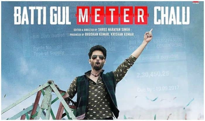 Batti Gul Meter Chalu Shahid Kapoor Drops Fresh Posters For His Next Calls It It S Current It S Light It S Shocking See Posters India Com