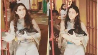 Sara Ali Khan Annoyed at Shutterbugs For Snapping Her at a Temple in Juhu With Amrita Singh And Ibrahim Ali Khan