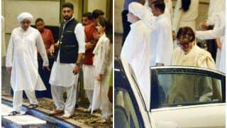 Amitabh Bachchan, Abhishek Bachchan, Rishi Kapoor Attend Prayer Meet of Shweta Nanda's Father-in-Law Rajan Nanda
