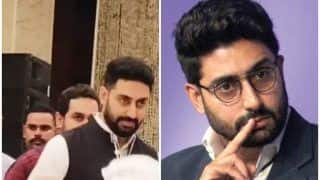 Abhishek Bachchan Trolled Mercilessly For Smiling at Rajan Nanda's Prayer Meet