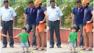 Taimur Ali Khan Plays Badminton With Daddy Saif Ali Khan And it is The Cutest Thing You Will See on The Internet Today - See Pics