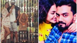 Bigg Boss 11 Finalist Hina Khan Poses With Beau Rocky Jaiswal, Gets Trolled For Wearing Shoes in Front of Ganesh Idol