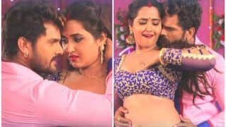 Bhojpuri Superstar Khesari Lal Yadav And Kajal Raghwani's Hot Number Tohar Hothwa Lagela Chaklate Goes Viral, Watch