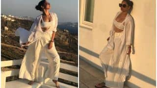 Ankita Lokhande Flaunts Her Curves And Tan in a White Outfit in Her Latest Greece Tour Pictures