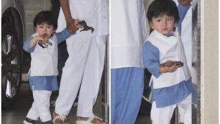 Raksha Bandhan 2018: Saif Ali Khan And Kareena Kapoor's Baby Taimur Ali Khan in Festive Mood, Steps Out Wearing Traditional Outfit, See Pics