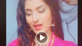 VIDEO: नथ पहनकर गुलाबी साड़ी में सजीं पूनम दुबे, गाया 'चुरा लिया है तुमने जो दिल को...'