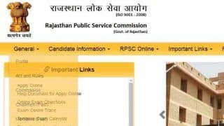 RPSC Results For College Lecturer Position Declared; Check rpsc.rajasthan.gov.in