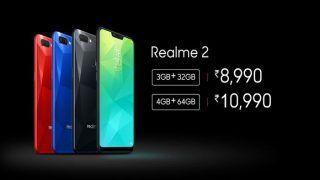 Realme 2 स्मार्टफोन लॉन्च, 3 GB रैम और 32 GB मेमोरी, कीमत 9 हजार से कम
