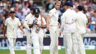 India vs England 3rd Test: Stuart Broad Fined 15 Per Cent of Match-Fee by ICC For Rishabh Pant Send-Off