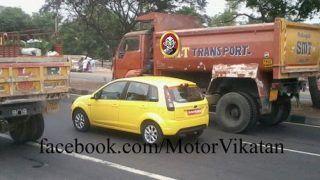 Ford Figo facelift caught testing near Chennai