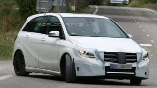 Mercedes Benz B-Class facelift spotted for the first time