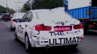 2012 BMW 3-Series promotion vehicle spotted in Mumbai
