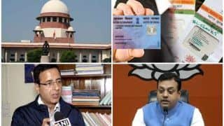 आधार पर फैसला: भाजपा ने कहा कांग्रेस हार गई, विपक्षी पार्टी ने कहा सरकार के मुंह पर तमाचा
