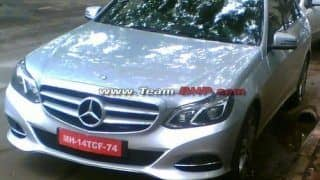 Spied: 2013 Mercedes Benz E-Class Facelift in India