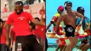 Chris Gayle Dancing on Marathi Song Zingaat is Definitely Going to Give Competition to Salman Khan's 'Towel Step' From 'Jeene ke Hai Chaar Din'  -- WATCH