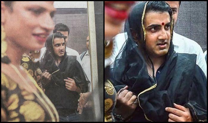 Gautam Gambhir Wears Saree, Bindi to Support Cause of Transgenders & Hijras — PICS